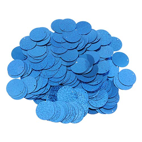 100g 30mm Round Shaped Loose Sequin Paillettes Sewing Craft DIY Accessories (Color - Blue)