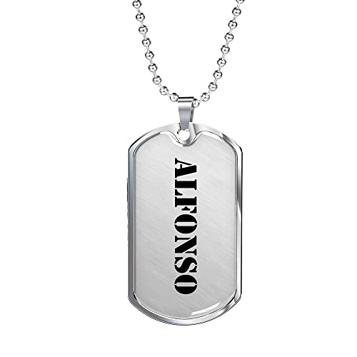 Alfonso - Luxury Dog Tag Necklace Personalized Name Gifts