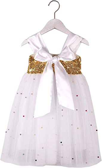Flower Girl Tutu Dress Baby Sequins Princess Party Pageant Bridesmaid Tulle Gown