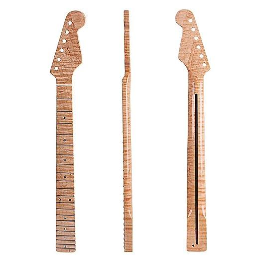 YUSDP Guitarra eléctrica Cuello DIY, Diapasón de Arce de 21 ...