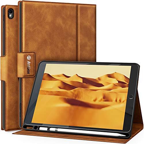 Antbox iPad Air 10.5 ケース(Air3)/ iPad Pro 10.5 ケース Apple Pencil収納 高級感PUレザー製 iPad Air3 10.5インチ ケースカバー オートスリープ&スタンド機能付き ひび割れ防止 防衝撃デザイン