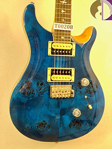 - Paul Reed Smith PRS SE Custom 24, Poplar Burl w/Bevel, Blue Matteo Finish w/GB, LTD ED