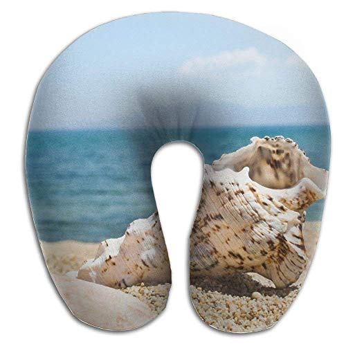 (KBdiengsuihekiss Neck Pillow Beach Shells U-Shape Travel Pillow Ergonomic Contoured Design Washable Cover Airplane Train Car Bus Office Throw Pillow Cover)