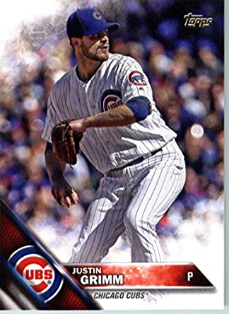 2016 Topps Update Us276 Justin Grimm Chicago Cubs Baseball Card