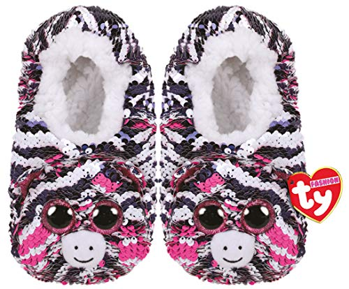 (TY Fashion Sequin Slipper Socks Zoey Large (4-6))