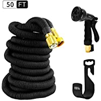 HBlife 50 ft Expandable Garden Water Hose with 8 Spray...