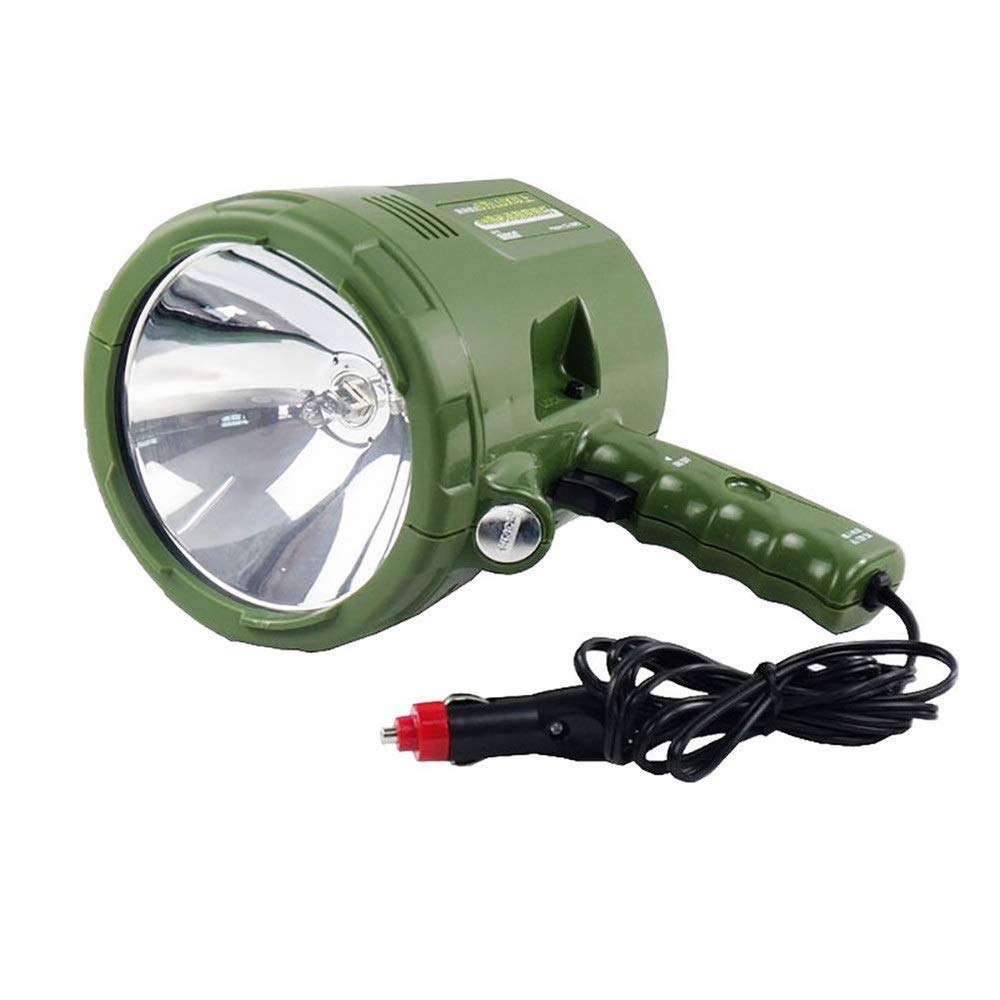 JXSHQS Car Searchlight 55W Xenon Car Work Light Spotlight, Used for Car Off-Road Vehicle Driving Outdoor Fishing Lights Hunting Camping Patrol Lights Car Searchlights, 6 Color Lights Flashlight by JXSHQS