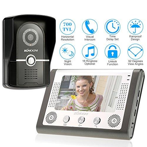 "KKmoon 7"" Video Doorbell Intercom Door Phone Monitor Night Vision Camera 1V1 Wide Angle IP65 Picture/Video Recording -  ACP9121452939937XE"