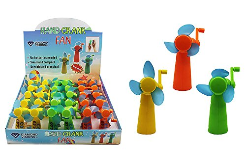 (Diamond Visions 01-1584 Hand Crank Fan MultiPack Set in Assorted Colors (2 Fans))