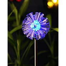 BRIGHT ZEAL Solar Powered Garden Stake Light with Vivid Figurines in Life Sizes - DANDELION - LED Solar Patio Lights - Garden Decor Solar Lights - Yard Decoration Stake Lights 1383