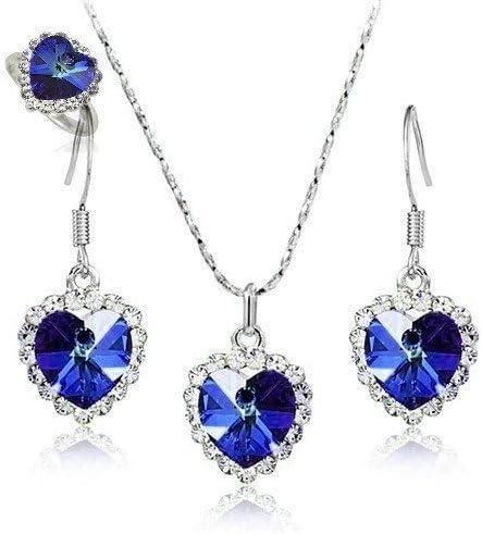 CDE ensemble de bijoux pour femmes 3 pi/èces ensembles femmes pendentif collier boucles doreilles bracelet cadeau danniversaire pour son meilleur ami