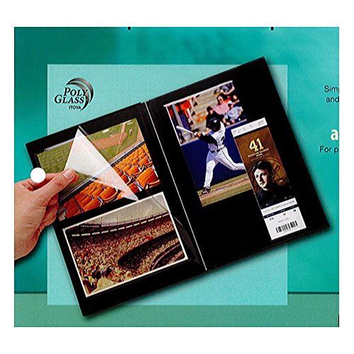 Itoya Profolio Premium Album, Linen Cover with 20 Repositionable Pages, 7.5 X 10.5 X 3/4 inches, Black (CA-200-BK)