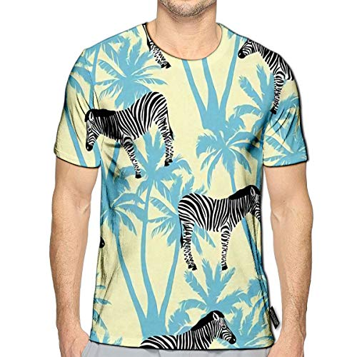 3D Printed T Shirts Zebra Animal Casual Mens Hipster Top Tees f