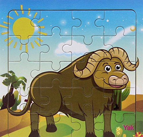 Sevenpring Child Learning Puzzle Creative Wooden Animal Puzzle Early Learning Toy Fantastic Gifts for Kids(Yak)