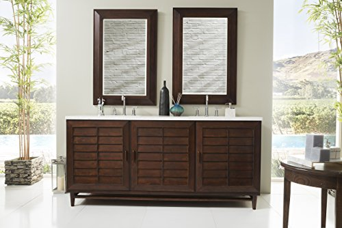 72 in. Double Vanity in Burnished Mahogany Finish