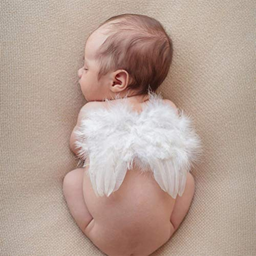 Infant Angel Wing Newborn Photography Props Baby Photo Session 0-6 Months White - Prop Newborn Photo Wings Angel