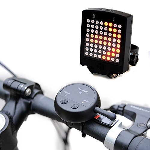 Mini Skull Electra Lamp (Angelwing Bicycle Rear Tail Light Bike Turn Signals Safety Warning Light 64 LED Wireless Remote)