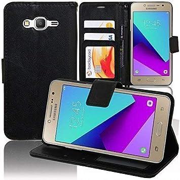 VCOMP Funda Carcasa Cartera Soporte Vídeo Tipo Libro Rabat Cuero PU para Samsung Galaxy Grand Prime Plus/Grand Prime (2016)/ Galaxy J2 Prime/SM-G532F ...