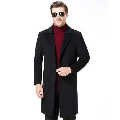 huge selection of 50ef7 d3789 Herbst Winter Herren Trenchcoat Lange Wolle Cashmere Jacke ...