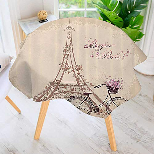 Philiphome Circular Solid Polyester Tablecloth-Bjour Paris