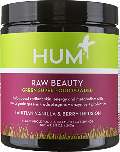 HUM Nutrition - Raw Beauty Tahitian Vanilla Berry - 39 Detox Greens & Superfoods Powder, 240 Grams
