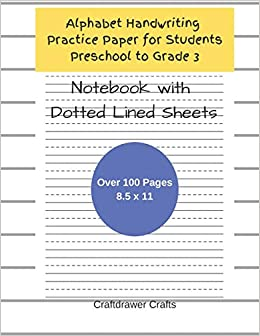 Alphabet Handwriting Practice Paper For Students Preschool to Grade