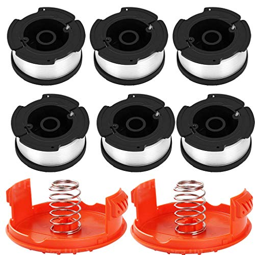 (Solovley Lawn Mower Accessories, AF-100-3ZP Spool Line Replacement Parts for Black for Decker String Trimmer for GH400, GH500, GH600, GH610, GH900, GH912, ST6600, ST7000, ST7200, ST7700, ST7701)