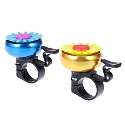 LIOOBO 2pcs Sunflower Shaped Bike Bell Kids Children Bicycle Bell Cycling Bell Handlebar Ring Bell Ringer Horn : Sports & Outdoors