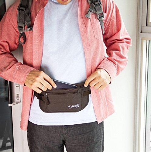 Cintura portasoldi – Cintura portasoldi con blocco RFID |Marsupio sicuro, Cintura Sicurezza per uomini e donne by Boxiki… 4 spesavip