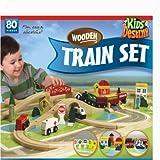Kids Destiny Wooden Train Set, 80 Piece