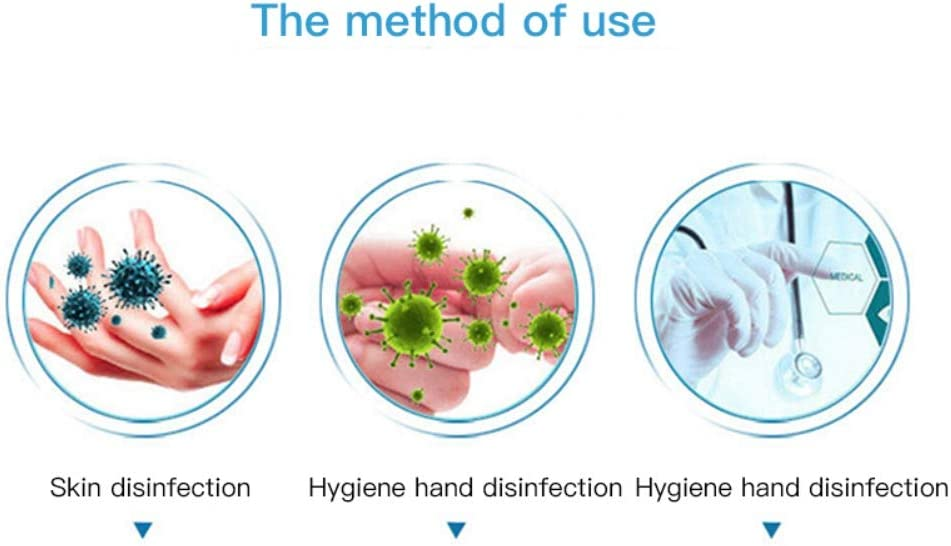 Instant Hand Anti-bacterial Gel Sanitizer Gel with Aocohol Hand Cleanser Gel Pump Dispenser Defense Hand Soap Kills Most Germs and Bacteria 100ml