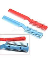 Access 2 Pcs Hair Trimmer Comb Cutting Cut Pet With 2 Blades Grooming Razor Thinning online