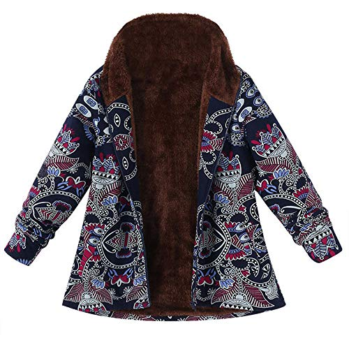 - Hengshikeji Women's Plus Size Coats Winter Warm Outwear, Floral Print Hooded Pockets Vintage Oversize Caidigan Jackets