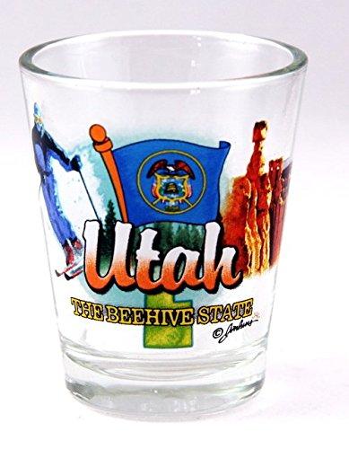 Utah Beehive State Elements Shot Glass