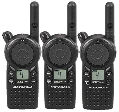 3 Pack of Motorola CLS1410 Two way Radio Walkie Talkies (UHF) by Motorola