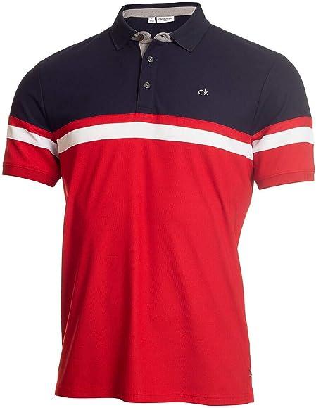 Calvin Klein Golf 2019 - Polo con Colgante para Hombre Rojo Rojo ...