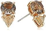 Vince Camuto Citrine Glass Stud Earrings