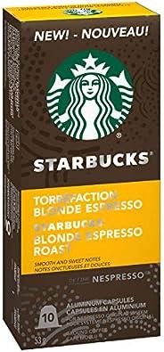 Starbucks by Nespresso Blonde Espresso Roast Nespresso Coffee Capsules, Original Line Compatible, 5 X 10 Nespr