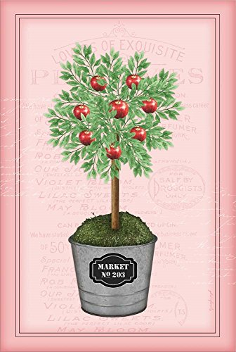 - Apple Topiary - Pink by Jennifer Pugh Laminated Art Print, 15 x 22 inches
