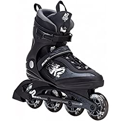 K2 Skate Men's Kinetic 80 Pro Inline Skate, Black White, 10.5