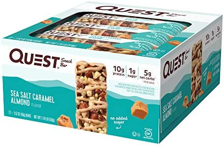 Quest Nutrition Sea Salt Caramel Almond Snack Bar, High Protein, Low Carb, Gluten Free, Keto Friendly, 12-Count 2