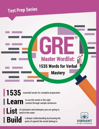 GRE Master Wordlist: 1535 Words for Verbal Mastery (Test Prep Series)