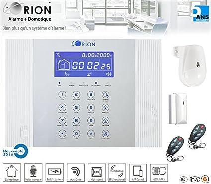 Kit Alarma Hogar inalámbrico GSM/RTC meian Orion 433 mhz ...