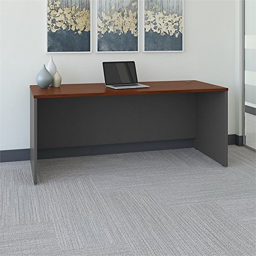 Bush Business Furniture Mgr's Desk Shell,71''x29-3/8''x29-3/4'',Hansen CHY/GPHT