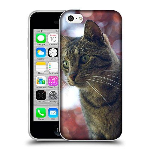 Just Phone Cases Coque de Protection TPU Silicone Case pour // V00004228 Surpris chat domestique // Apple iPhone 5C