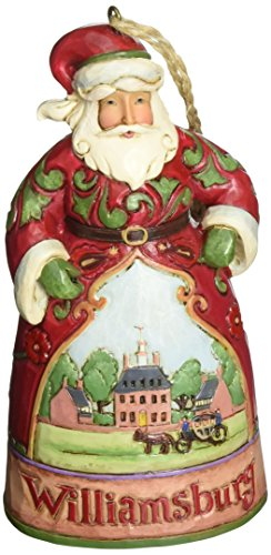 Heartwood Creek Hanging - Jim Shore Heartwood Creek Williamsburg Santa Stone Resin Hanging Ornament, 4.75