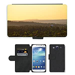 Super Stella Cell Phone Card Slot PU Leather Wallet Case // M00421404 Nature Landscape Forest Hills // Samsung Galaxy S3 S III SIII i9300