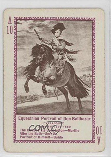 Equestrian Portrait of Don Balthazar Ungraded COMC Good to VG-EX (Trading Card) 1897 U.S. Playing Card Game of Famous Paintings - [Base] #A10 (Equestrian Portrait)