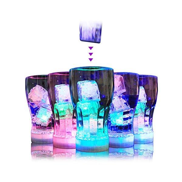 12 Pezzi Luminous ice,Xrten Cubo Ghiaccio LED Ice Cube Adatto per Bar, Balli, Ricevimenti, Feste, Matrimonio 6 spesavip