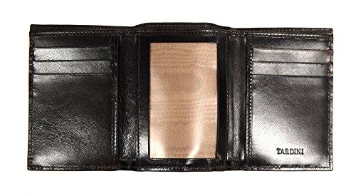 Tríptico Cocodrilo 626at Brillante Los Identificación La Marrón De Carpeta De Hombres Tardini qCAdFwC